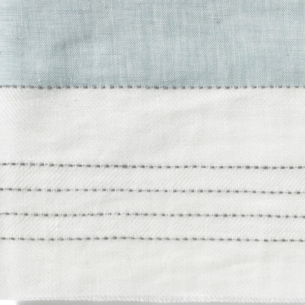 Broad Stripe Top Stitch Linen - Parma Grey