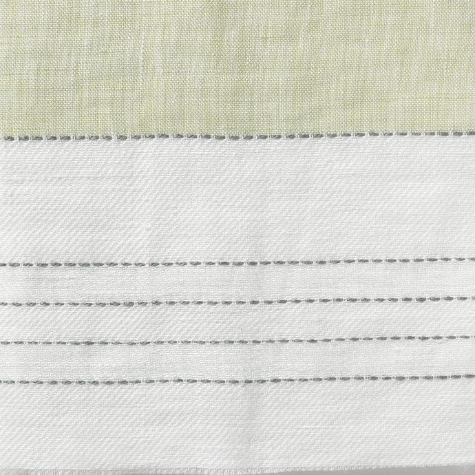 Broad Stripe Top Stitch Linen - Primrose