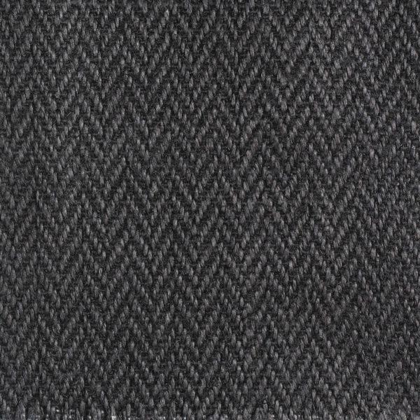 Herringbone Upholstery Linen - Charcoal