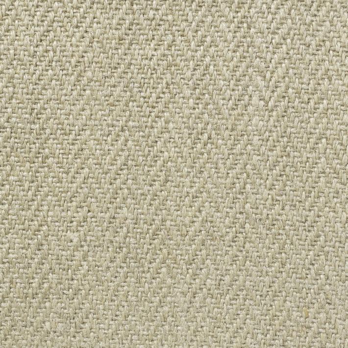 Herringbone Upholstery Linen - Natural