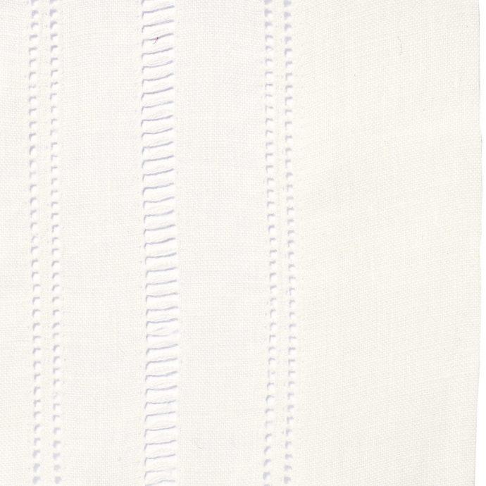 Drawn Thread Fabric - Hem & Ladder Stitch Edge - Ivory White