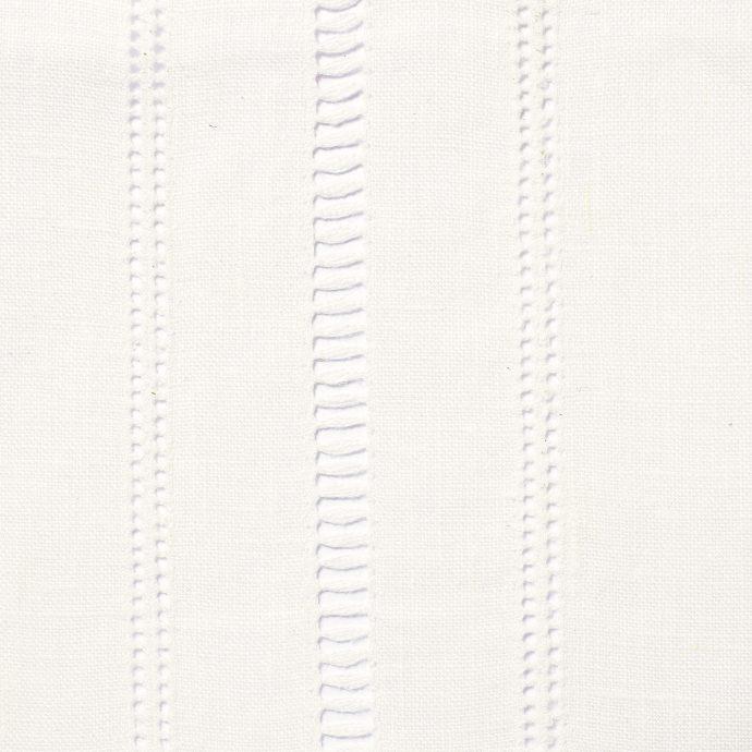 Drawn Thread Fabric - Ladder Stitch Rows - Ivory White