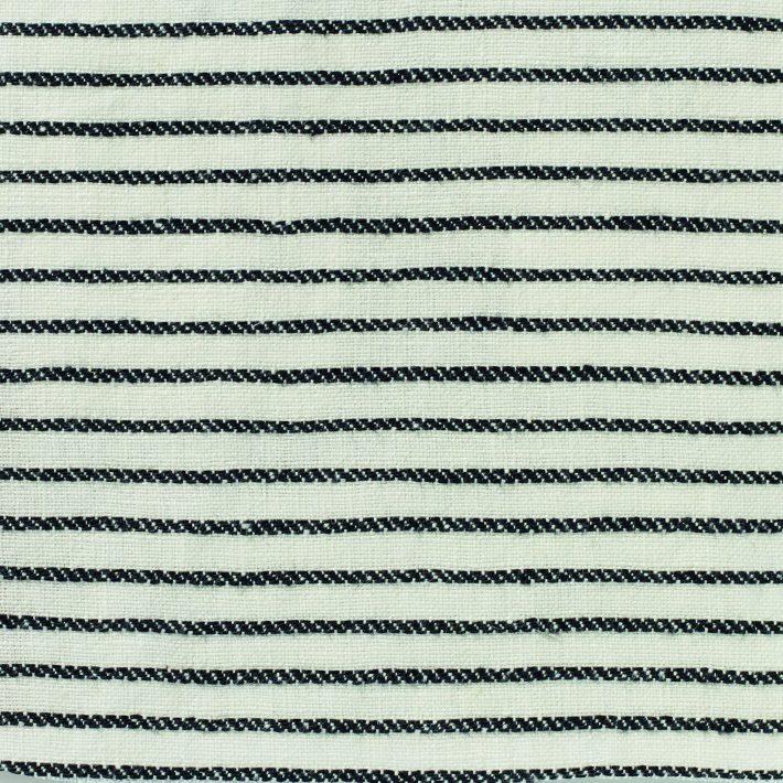 Ticking Stripe Linen - Black & White