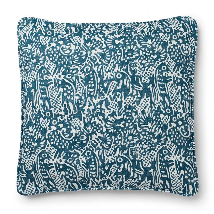Alyosha Print Prussian Blue Cushion Cover