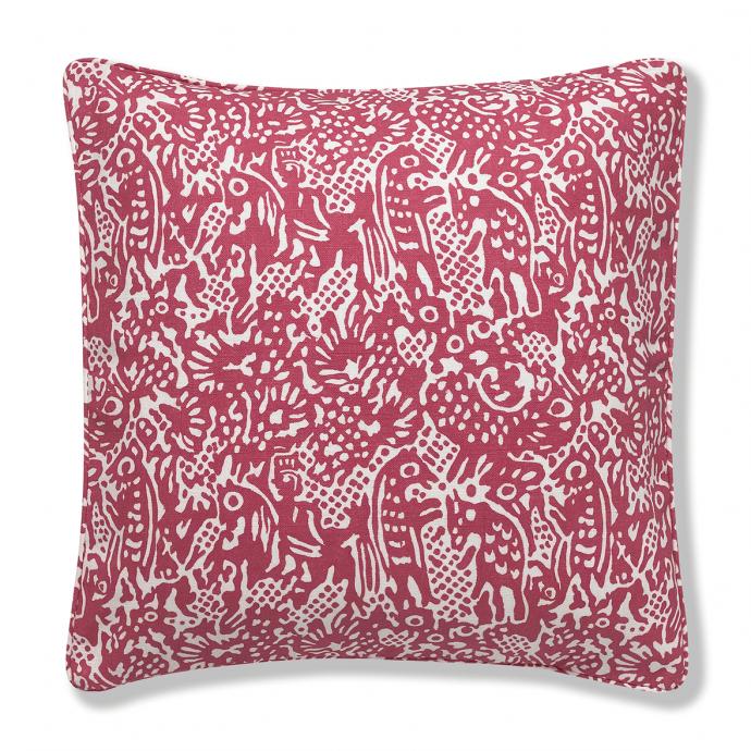 Alyosha Print Red Cushion Cover