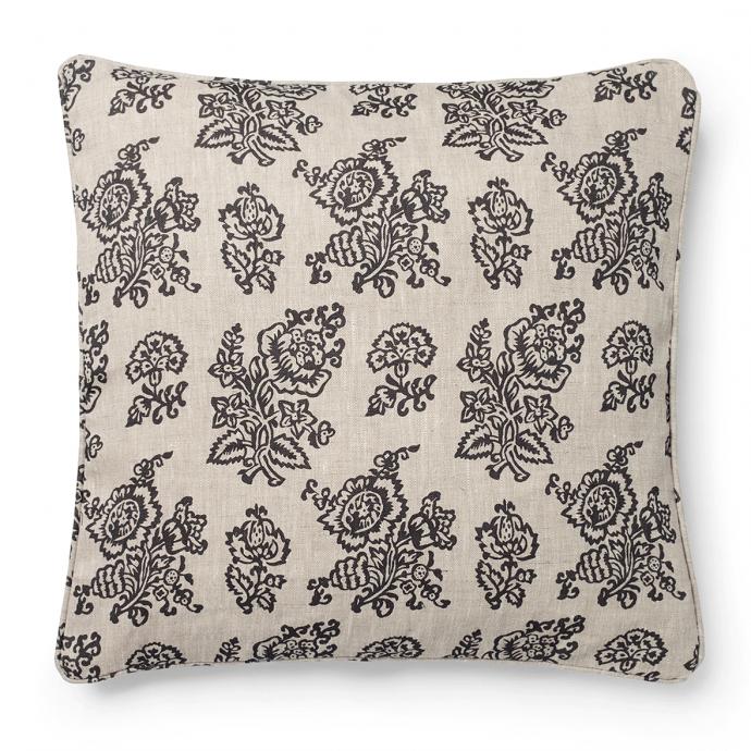 Flora Print Charcoal Cushion Cover