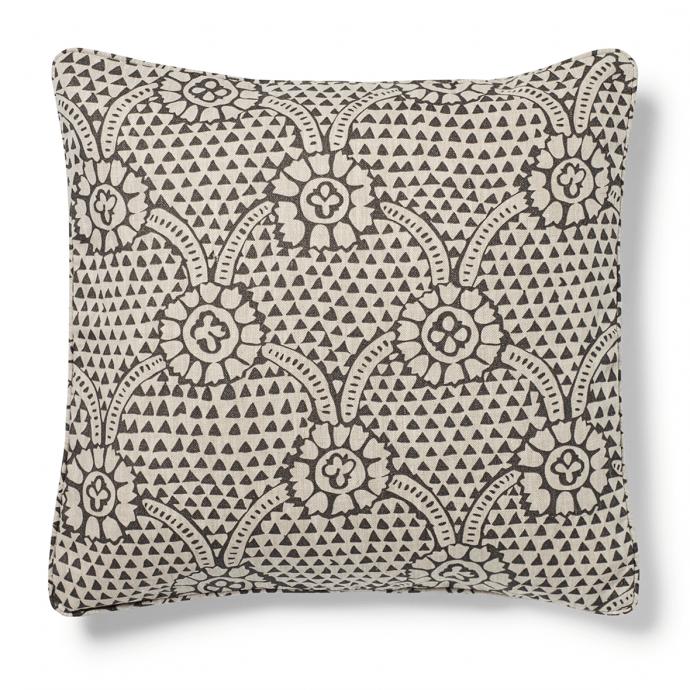Ivan Print Charcoal Cushion Cover