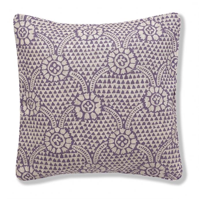 Ivan Print Plum Cushion Cover