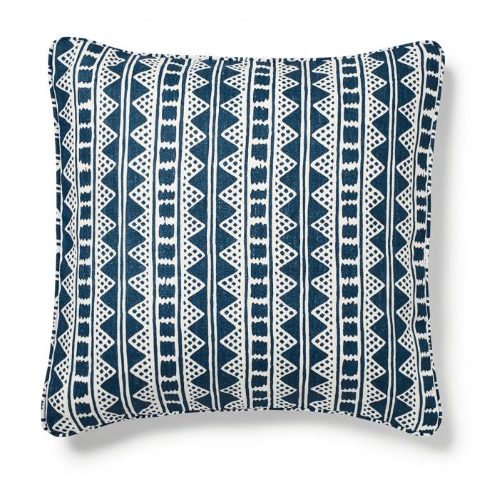 Kitezh Print Prussian Blue Cushion Cover