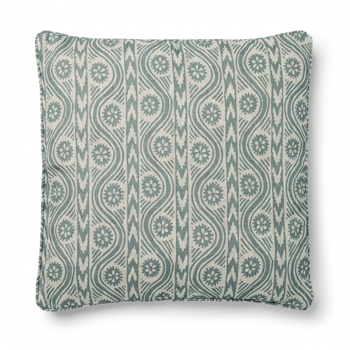 Ruslan Print Teal Cushion Cover