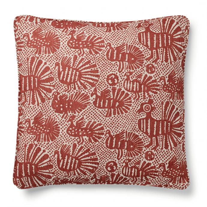 Sirin Print Terracotta Cushion Cover