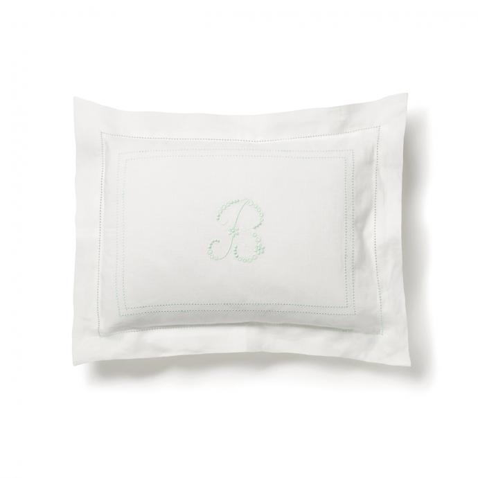 Hemstitch Small Pillowcase - Sea Green