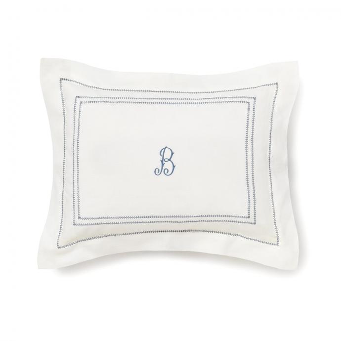 Hemstitch Small Pillowcase - Prussian Blue