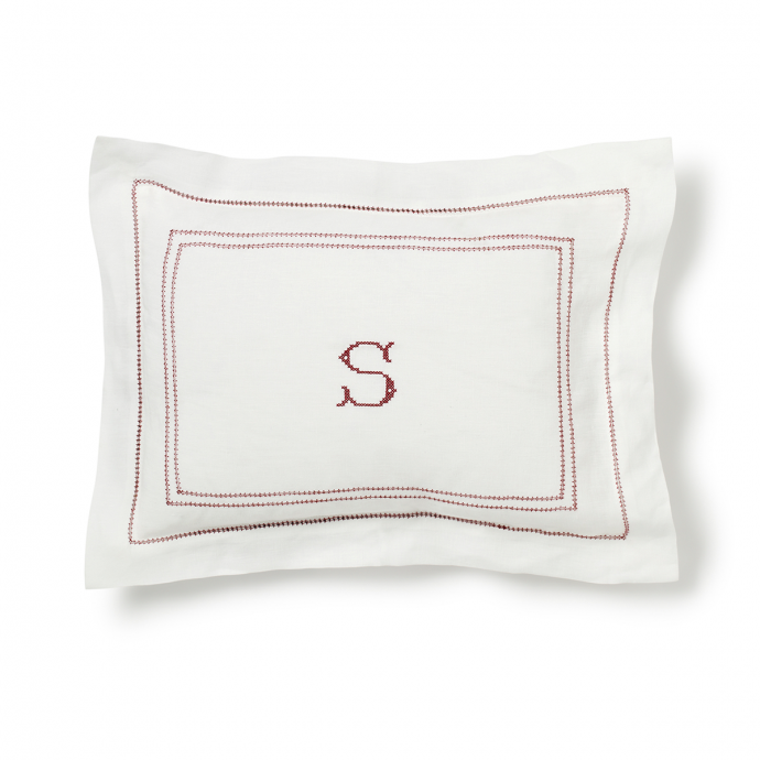 Hemstitch Small Pillowcase - Red