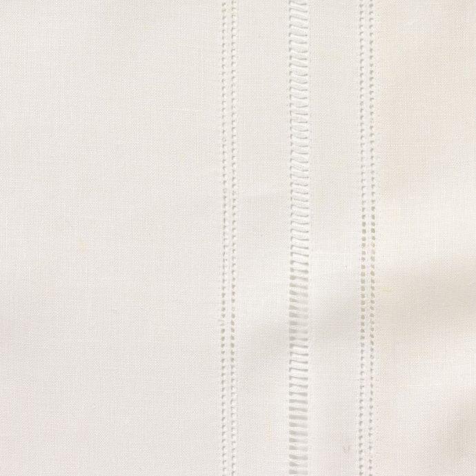 Hem & Ladder Stitch Edge - Ivory White