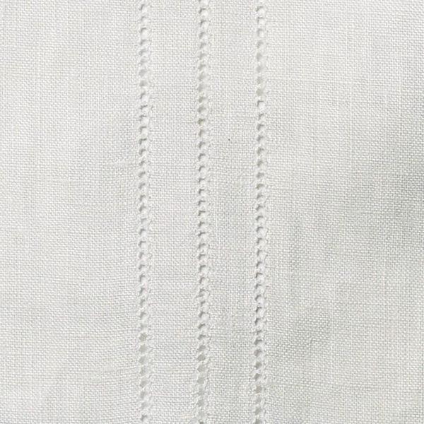Hem Stitch Rows - Ivory White