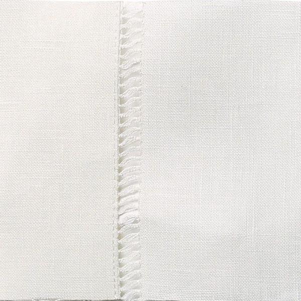 Drawn Thread Curtains - Ladder Stitch Edge - Ivory White