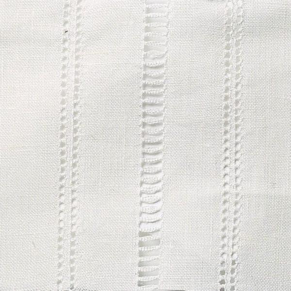 Drawn Thread Curtains - Ladder Stitch Rows - Ivory White