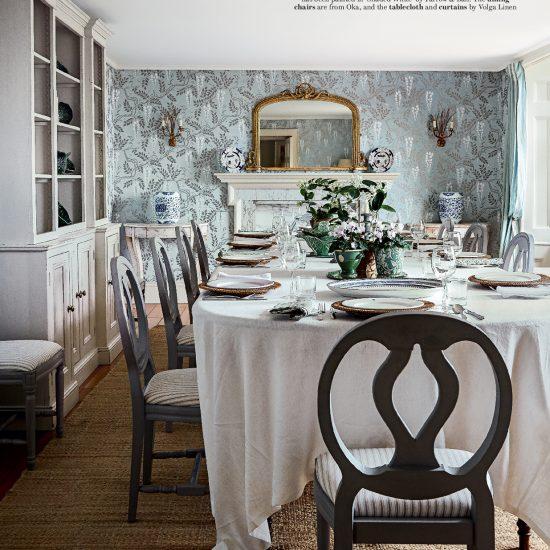 House & Garden June 2019 - Volga Linen Tablecloth (Prince Charles' private estate)