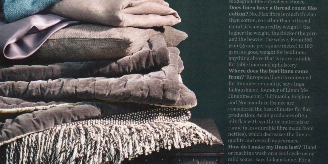 Elle Decoration - How to Pick the Best Linen