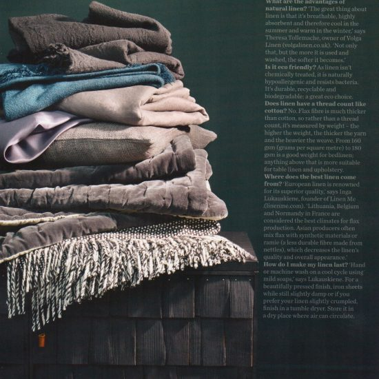 Elle Decoration - How to Pick the Best Linen