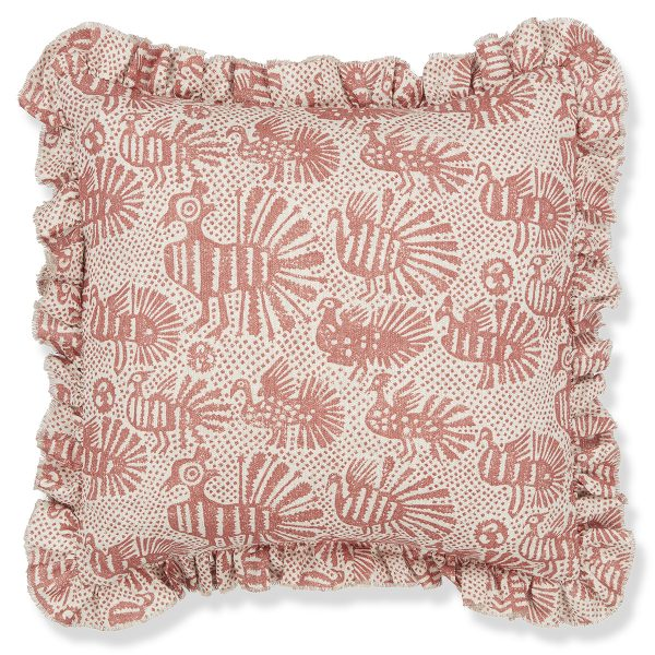 Print Cushion Cover Sirin Terracotta with Frill