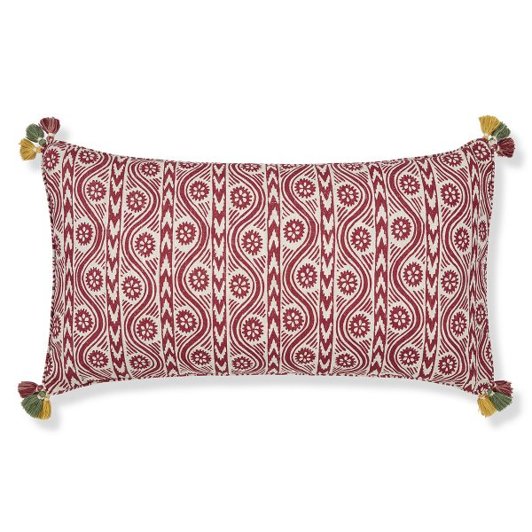 Print Cushion Cover Ruslan Red with Tassels