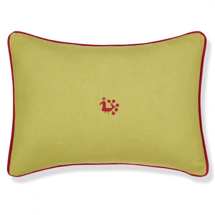 Moss Green Cockerel Cushion Cover
