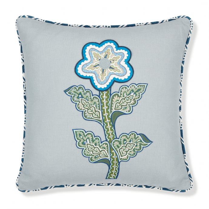Vasilisa Appliqué Parma Grey Cushion Cover