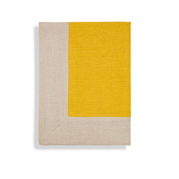 Chinese Yellow Linen Throw - Volga Linen