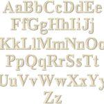 Volga Linen Monogramming - Times Roman