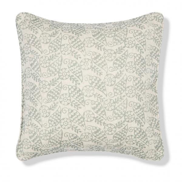 Katya Celadon Print Cushion Cover - Volga Linen