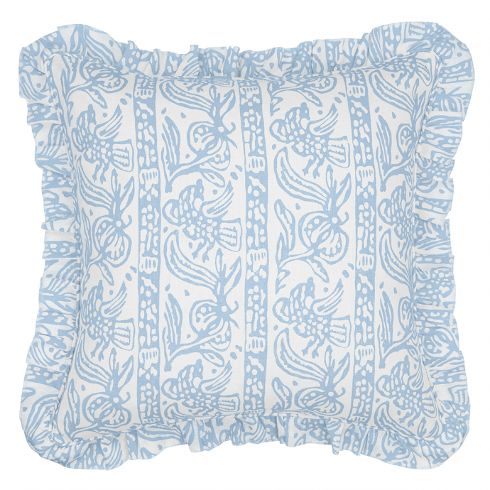 Finist Print Sky Frill Cushion Cover