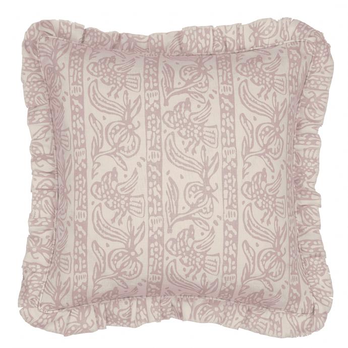 Finist Print Tea Rose Frill Cushion Cover