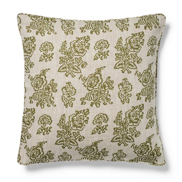 Flora Print Fern Green Cushion Cover