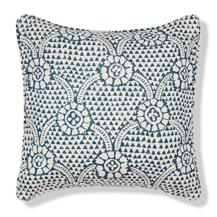 Ivan Print Prussian Blue Cushion Cover