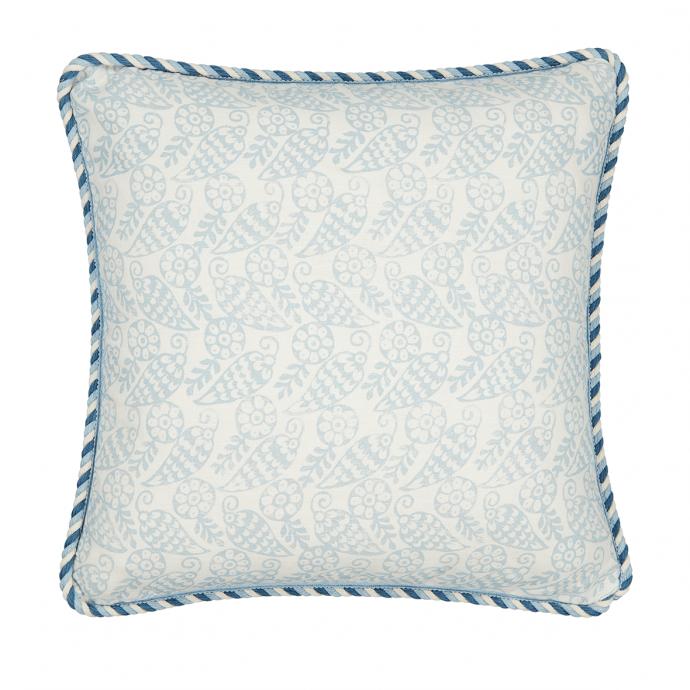 Katya Print Sky Trim Cushion Cover