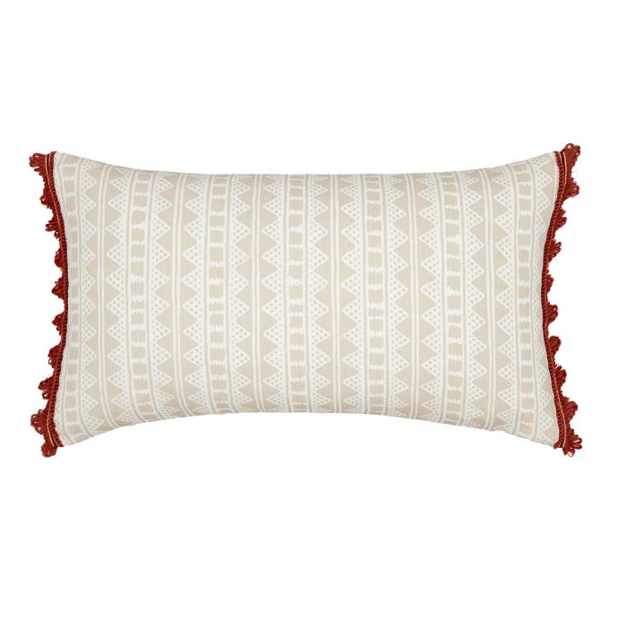 Kitezh Print Putty Trim Cushion Cover
