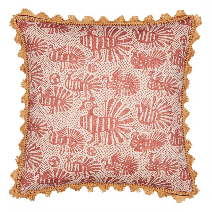 Sirin Print Terracotta Trim Cushion Cover