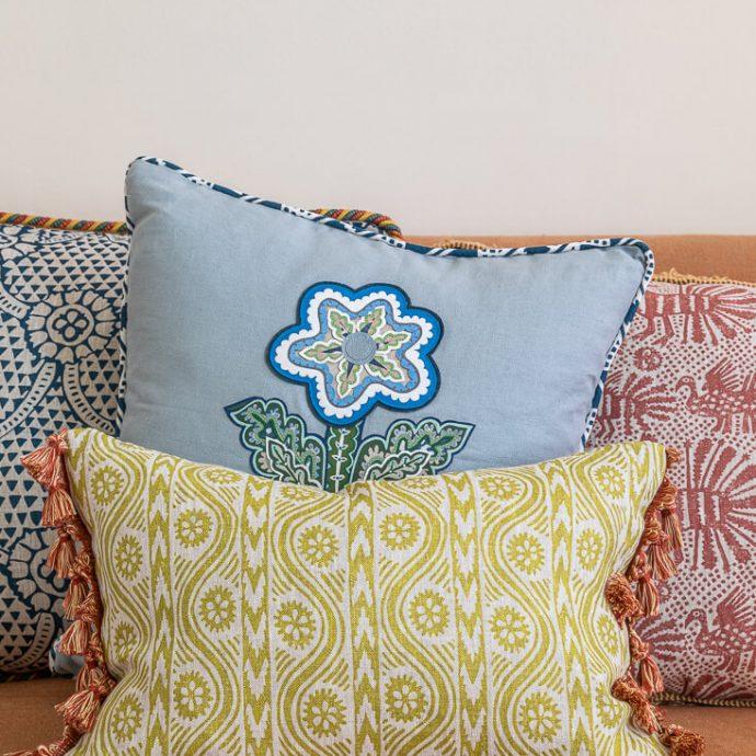 Volga Linen - Print Cushion Covers