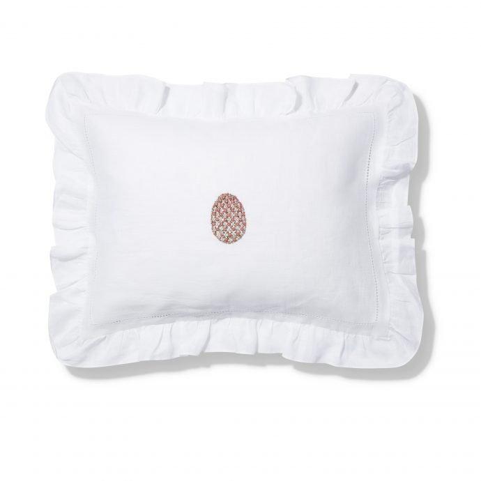 Fabergé Egg Small Frill Edge Pillowcase - Dark Pink